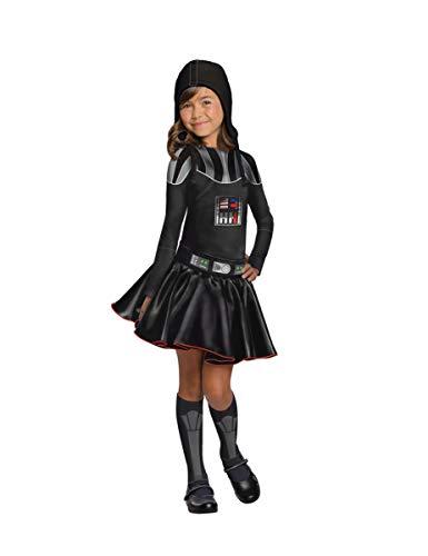 Generique - Darth Vader-Lizenzkostüm für Mädchen Star Wars schwarz 128 (7-8 Jahre)