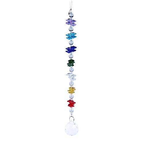 H&D Kristall Regenbogen Sonnenfänger Chakra Anhänger hängen Fengshui Dekor - Kristall Hängen Anhänger