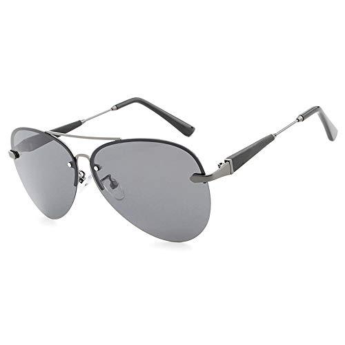 Easy Go Shopping Farbfilm Klassische Sonnenbrille Brille Mode Männer polarisierte Sonnenbrille Fahren Sonnenbrillen und Flacher Spiegel (Color : 02Back, Size : Kostenlos)