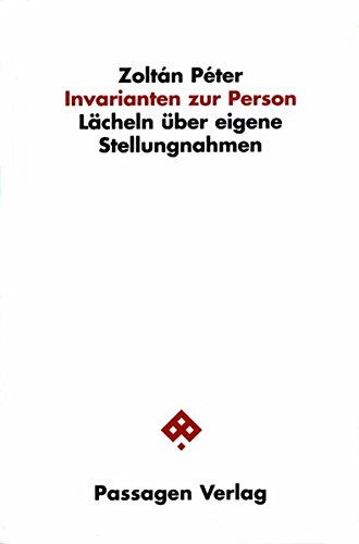 Buch: Invarianten zur Person von Zoltan Peter
