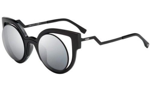 fendi-womens-0137-black-frame-dark-grey-silver-mirror-lens-plastic-sunglasses