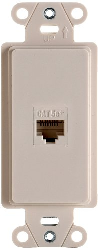 OnQ / Legrand WP3210LA PreConfigured 1Port Strap, 1 RJ45, Light Almond by - Wall Light Plate Almond