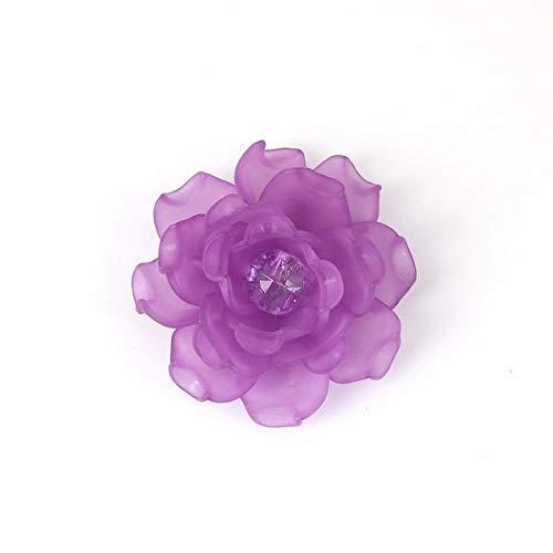 Necclecs 9 colori acrilico rosa fiore strass di cristallo di fascini del pendente adatti braccialetti fai da te collana monili che fanno, viola