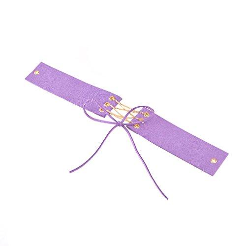 YAZILIND Femmes Multicolor Charme large flanelle Collar Idée Bijoux Collier en or cadeau Violet