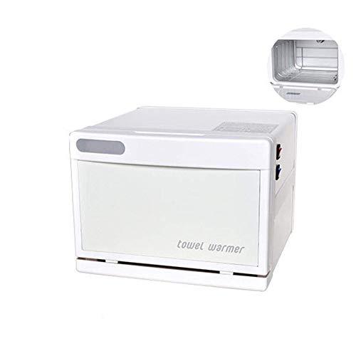 Ciaer Mini Towel Warmer 2-in-1 Handtuchwärmer Kompressenwärmer UV-Licht Sterilisator Wärmeschrank Handtuchablage Salon 7.5L, White