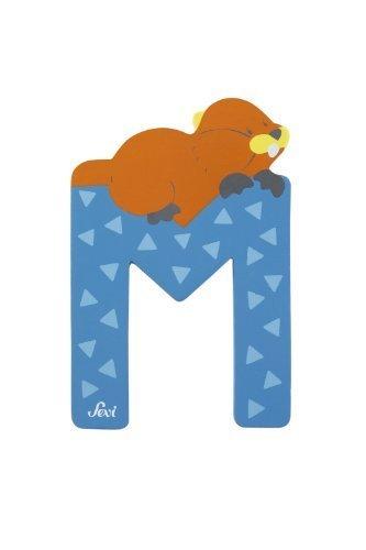 Trudi 81613 - Sevi Tierbuchstabe Murmeltier hellblau