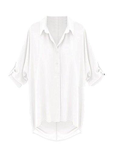 Blue Chambray Work Shirt (Tootlessly-Women Damen Bluse Gr. Medium, weiß)