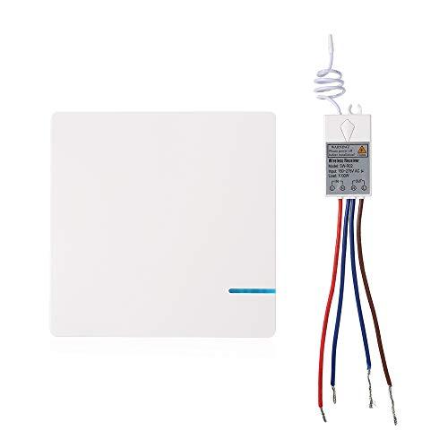 OWSOO AC 80~275 V Drahtloser Schalter + Empfänger Empfänger 433 MHz Keine Verkabelung Fernbedienung Haus Beleuchtung und Apps Elektrogeräte APP Mobile Fernbedienung, Unterstützung Vocale Steuerung