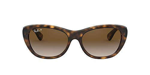 Ray-Ban Rb4227 Gafas de sol, Light Havana, 55 para Mujer