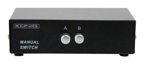 König CMP-SWITCH50 manueller VGA-Switch (2-Port, 15-polig)