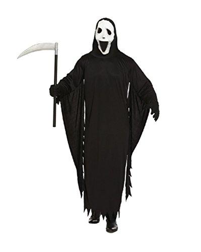 Grim Reaper Demon Costume Scream-Gespenst Halloween-Maske für (Kinder Herr Grim Kostüme)
