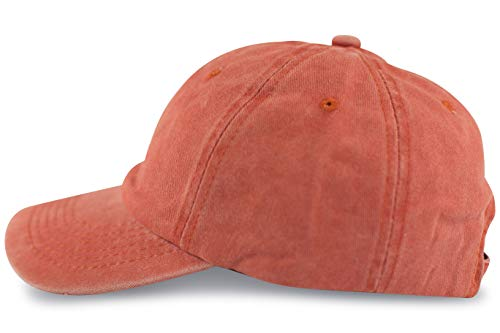 Canvas Washed Cap (FashionCHIMP Baseballcap im Vintage Used-Look aus 100% Baumwolle, Unisex Jeans Denim Cap (Orange))
