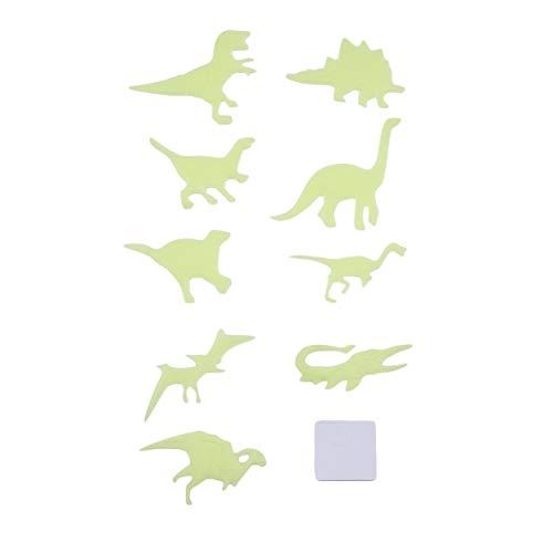 LoveOlvido 9 Teile / Satz DIY Fluoreszierende Spielzeug Glow In Dark Wand Decke Kühlschrank Aufkleber Dinosaurier Tier Muster Kinder Schlafzimmer Dekoration - Gelb