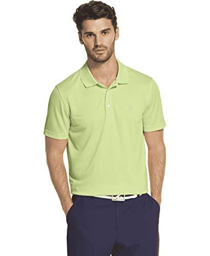 Izod Herren Performance Golf Short Sleeve Grid Polo Shirt Poloshirt, Patina Green, Mittel -