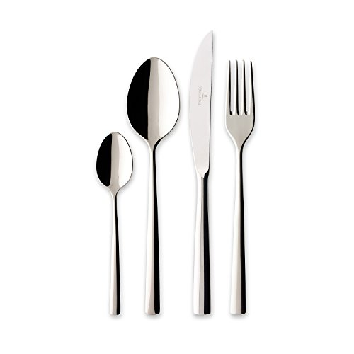 Villeroy & boch piemont servizio tavola, 24 pezzi, acciaio - 18/10, argento