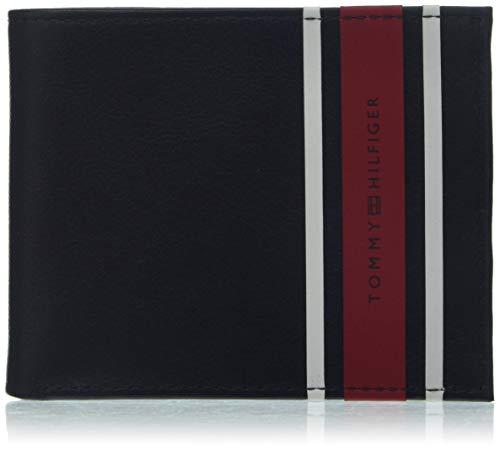 20283f2101 Tommy Hilfiger Urban Stripe Mini Cc Wallet - Portafogli Uomo, Blu (Tommy  Navy)