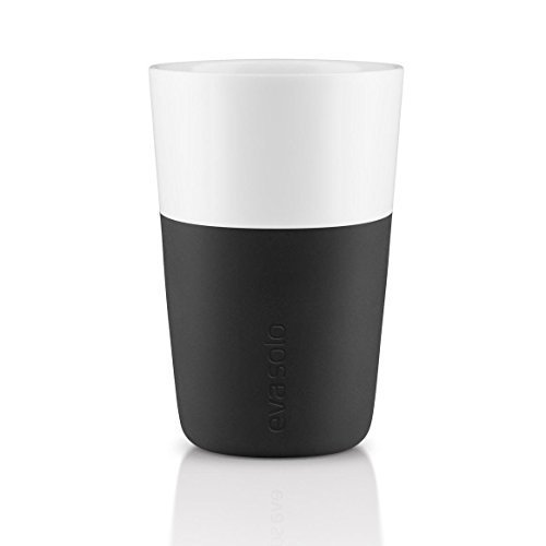 Eva Solo Cafe Latte Becher, 360ml, Carbon Schwarz, Set 2von Eva Solo Eva Solo Set