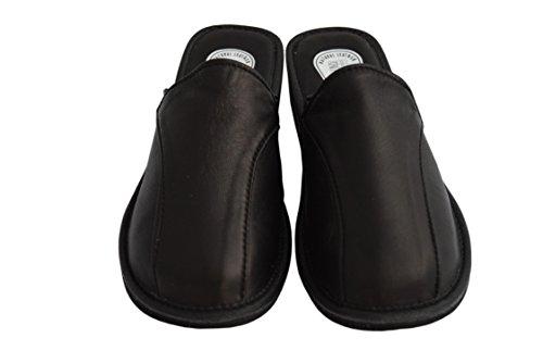 Slippers Natleat Womens Slippers 33 Mules-Zapatillas de estar por casa en Cuir Noir pour femme Noir Noir - Negro - Black / 1