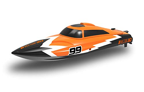 MODSTER Vector 30 orange, Ferngesteuertes Boot 2,4 GHz RTR, RC Pool Racer