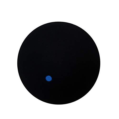 VelvxKl Squashball aus Gummi mit Blauen Punkten, Schwarz
