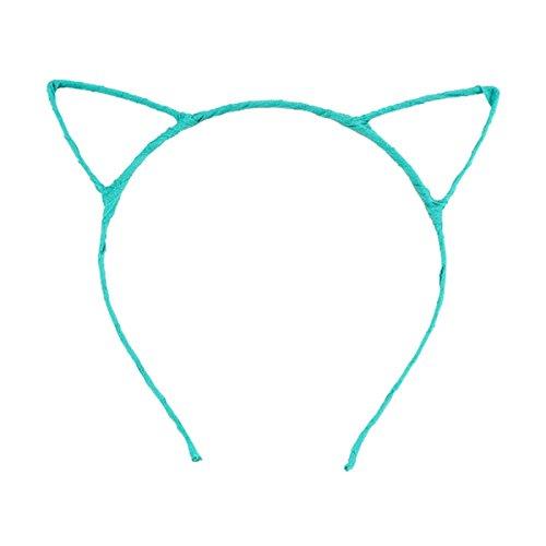 Pixnor Oreilles de chat filaire bandeau Déguisements Costume Party (bleu clair)