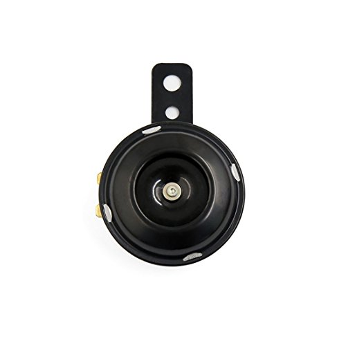 Sourcingmap 110dB Negra Bocina Eléctrica Trompeta de Alarma de Moto 7CM 12V 1,5A