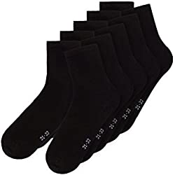NAME IT NITSOCK M NOOS, Calcetines Bebé-Niñas, Negro (Black), 21 (Talla del fabricante: 19-21)