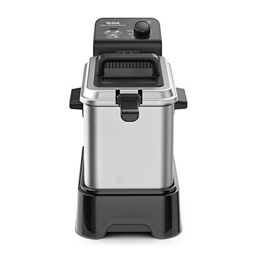 Tefal - Friggitrice Easy Clean & Store, fino a 1 kg di cibo, 3,5 l di olio, 190 C, colore: argento e nero
