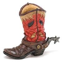 Burton & Burton Western Cowboy Boot Vase Planter For Western Decor,weddings,functions Red, Brown