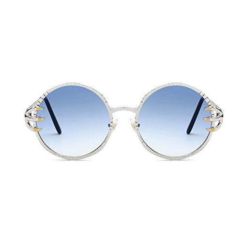 JESSIEJESSIE YY4 Punk Style Wölfe Klaue Dekoration Retro Runde Sonnenbrille für Männer und Frauen Coole Metallrahmen Sonnenbrille Unisex UV Schutz PC Objektiv Sonnenbrille für das Fahren von Reisen