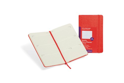 Get 2012 Moleskine Red Hard Pocket Weekly Horizontal Diary 18 Month Online