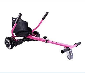 MOBILE+ HoverKart, Asiento para Hoverboard. Convierte tu Hoverboard en un Kart con Este Asiento Apto para Modelos DE 6.5' a 10' MB-HK6510.(Rosa)