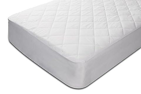 Pikolin Home – Protège-matelas matelassé en fibre, imperméable, anti-acariens, 80x190/200cm, couleur blanc, lit 80