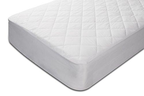 Pikolin Home - Protector de colchón acolchado de fibra, impermeable, antiácaros, 90 x 190/200 cm, color blanco, cama 90