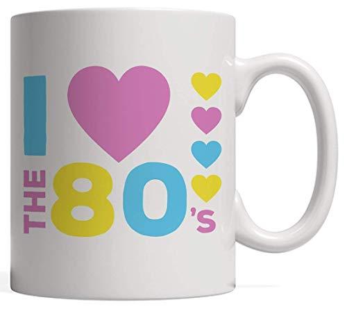 I Loveheart the 80s Ceramic Mug Gift