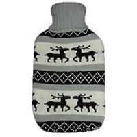 Wärmflasche -Wärmflasche mit Flauschbezug Elchmotiv Farbe grau preisvergleich bei billige-tabletten.eu