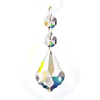 Fushing 10PCS Maple Leafs stile perline di cristallo goccia pendente lampadario tenda lampada catena prismi per festa di nozze decorazione