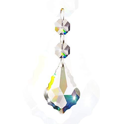 latt Art Kristallkorn Tropfen Anhänger Kronleuchter Vorhang Lampen Kettenprismen für Hochzeits Party Dekoration ()