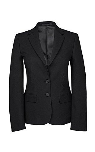 Greiff Damen-Blazer, Regular Fit, 8403, schwarz, Größe 44 (Ein-knopf-blazer Gefüttert,)