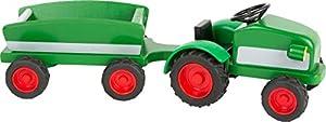 small foot company-El Tractor Woodfriends, Fabricado en Madera 100% certificada FSC con Remolque y neumáticos de Goma Juguetes, Multicolor (Small Foot by Legler 11006)