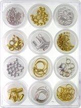 Bead Cafe Boîte à bijoux 12 supports réutilisables Pots de constatations