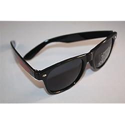 Jägermeister Sonnenbrille mit Schriftzug + Logoaufkleber im Set