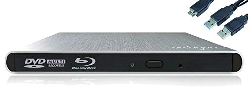 Archgon Style BD Combo Externer Blu-ray Player BDXL für PC USB 3.0, M-Disk, Alu Silber Dvd-recorder Laptop