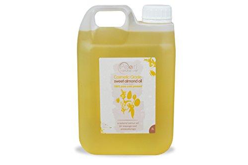 2 liter 100% puro grado, cosmetici, pressato a freddo olio di mandorla dolce