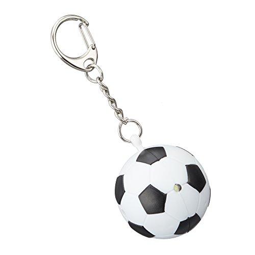 2 x Schlüsselanhänger ''Fußball'' mit Licht und Sound | Schlüsselbund | Geschenk für Männer | Taschenanhänger | Schlüsselbund Anhänger | Preis am Stiel® (2 Top-wärmer)
