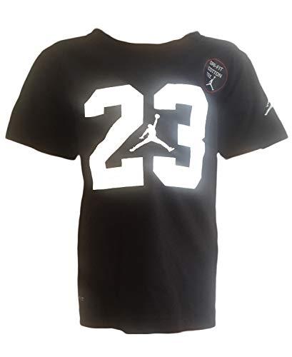 Nike Air Jordan Boys' 23 Jumpman Jersey T-Shirt Top (6, Black) -