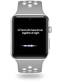 DM09 Plus 5.54 pulgadas de pantalla LCD Bluetooth Pedometer de precisión Cámara remota Smartwatch (blanco)