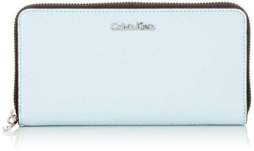 Calvin Klein Damen Neat Large Ziparound Geldbörse, Blau (PALE BLUE), 2.5x11x20.5 cm -