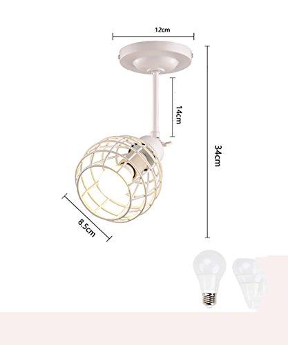 ZGW Projecteurs Spotlights LED créatif Plafonniers Spot de magasin de vêtements Mur de fond Salle d'exposition Glissez le projecteur ( Couleur : 10W- White , taille : B )