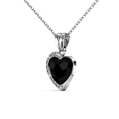 Private Twinkle 18ct White Gold Plated Necklace with Fond Love Pendant ovKXysM0iw